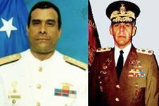Vicealmirante (r) Carlos Millán y general (r) Wilfredo Barroso